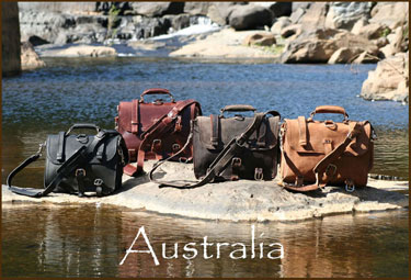 Leather briefcases 4 colors up Barron Gorge, Australia