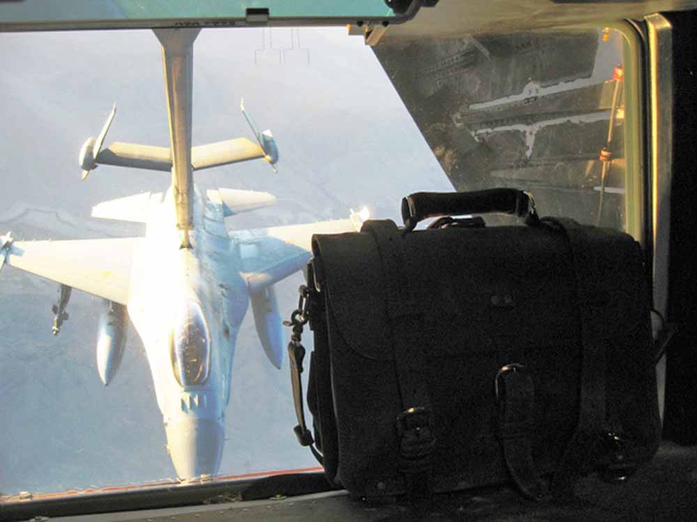 Ryan Menath on Air Force Refueling Tanker over Iraq