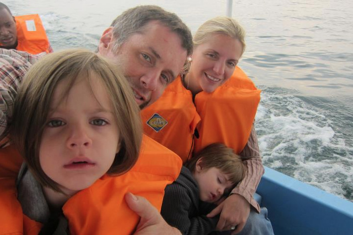 Munson Family on a Boat