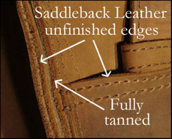 Fully tanned leather Saddleback