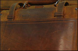 Full grain Saddleback Leather bag