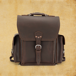 Squared Backpack - Dark Coffee Brown (10% Discount)