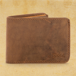 Bifold Wallet - Small, Tobacco (25% Discount)