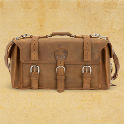 Side Pocket Duffel - Large, Tobacco (10% Discount)