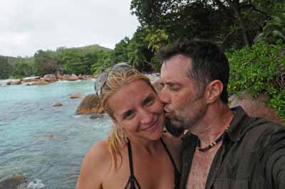 Dave with hot wife in The Seychelles