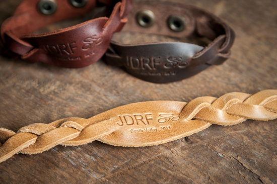 Saddleback Leather JDRF bracelet