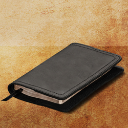 Bible Cover - Medium, Carbon Black, Non-Closure <br>(10% Discount)
