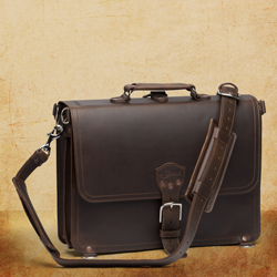 Briefcase Thin - Large, Dark Coffee Brown <br>(10% Discount)