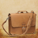 Briefcase Thin - Large, Tobacco<br>(15% Discount)