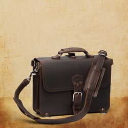 Briefcase Thin - Medium, Dark Coffee Brown <br>(15% Discount)