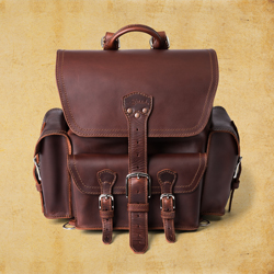 Front Pocket Backpack - Medium, Chestnut<br>(10% Discount)