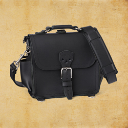 Round Satchel - Small, Carbon Black<br>(10% Discount)