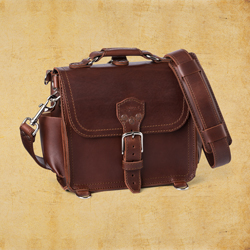 Round Satchel - Small, Chestnut<br>(10% Discount)