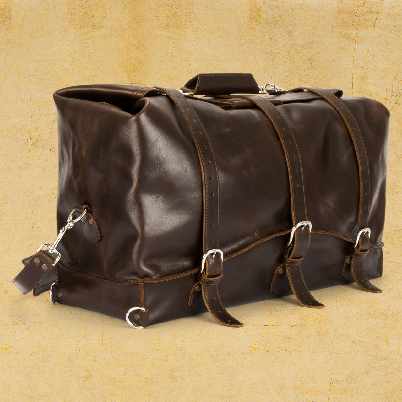 Size: Large, Color: Dark Coffee Brown