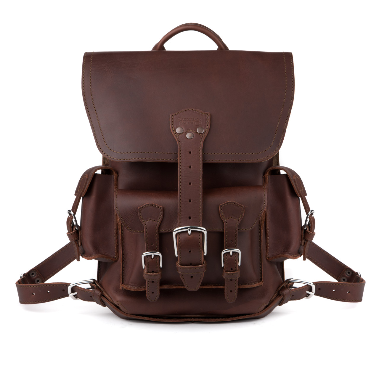 Thin Front Pocket Backpack - Chestnut (10% Discount)