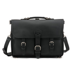 Thin Front Pocket Briefcase - Large, Black (25% Discount)