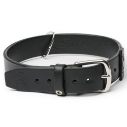 "Simple Dog Collar - Large, 1"" wide - Carbon Black (25% Discount)"