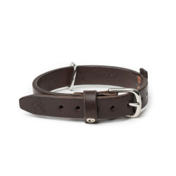 Simple Dog Collar - Large, 1-in wide, Dark Coffee Brown<br></noscript>(25% Discount)