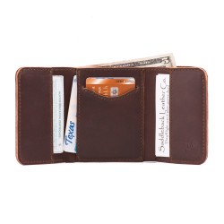 Trifold Wallet - Chestnut (25% Discount)