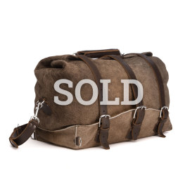 Hair-on Waterbag - Light Brown with Dark Coffee Brown accent