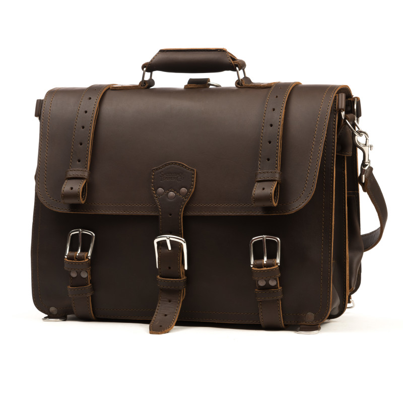 Classic Briefcase - Large, Dark Coffee Brown (10% Discount)