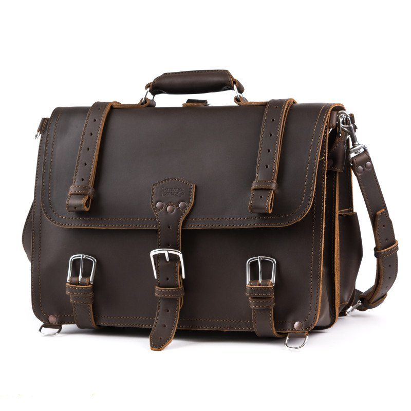 Classic Briefcase - X-Large, Dark Coffee Brown (10% Discount)