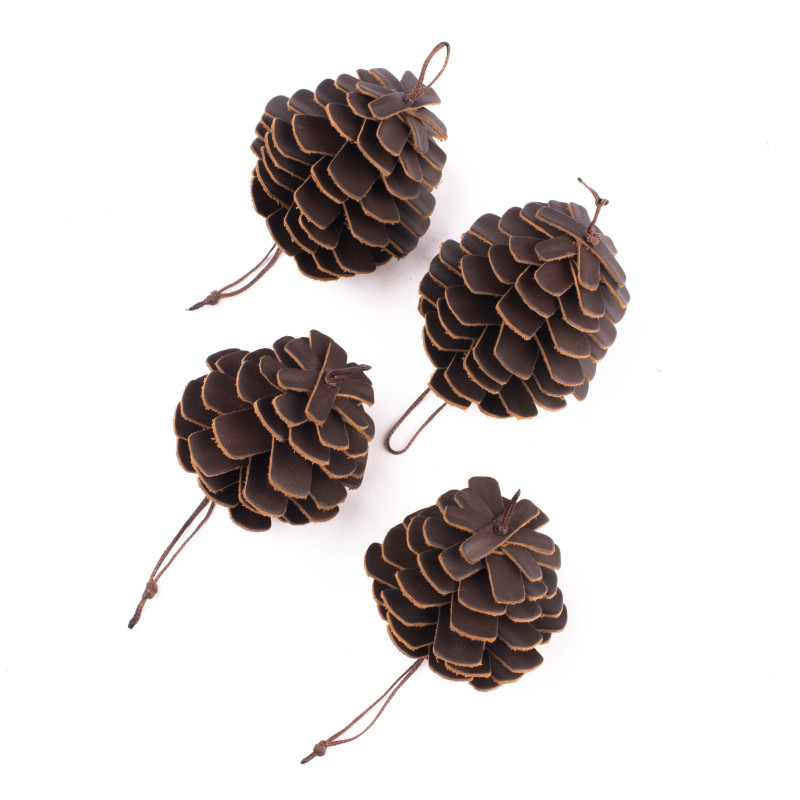 Pine Cone Ornament Set