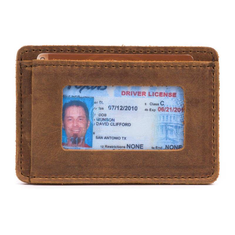 Front Pocket ID Wallet - Tobacco (25% Discount)