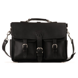 Front Pocket Briefcase - Large, Black (25% Discount)