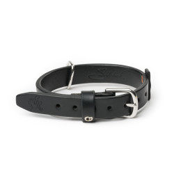 "Simple Dog Collar - Small, 1"" wide - Carbon Black (25% Discount)"